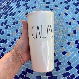 """Rae Dunn Large Lettering  """"CALM"""" Travel Mug"""